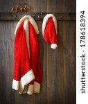 Santa's Coat And Hat Hanging U...