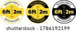 vector social distance sign... | Shutterstock .eps vector #1786192199
