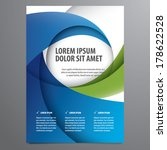 business flyer  brochure vector ... | Shutterstock .eps vector #178622528