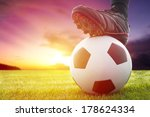 football or soccer ball at the... | Shutterstock . vector #178624334