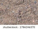 Pebbles On The Sandy Beach