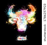 taurus sign of the zodiac. the... | Shutterstock .eps vector #1786257923