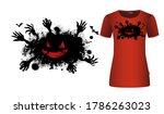halloween scary monster with... | Shutterstock .eps vector #1786263023