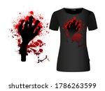 the hand of the monster. blood... | Shutterstock .eps vector #1786263599