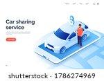 car sharing service isometric...   Shutterstock .eps vector #1786274969