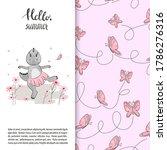 cute cartoon dinosaur girl with ... | Shutterstock .eps vector #1786276316