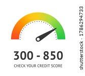 check credit score concept....