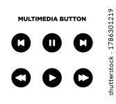 multimedia button icon set...