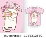 cute cat with camera cartoon...   Shutterstock .eps vector #1786312580