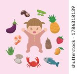 itchy and allergic foods for... | Shutterstock .eps vector #1786318139