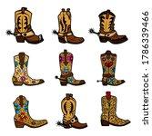 set of illustration of cowboy...   Shutterstock .eps vector #1786339466