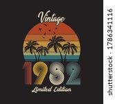 1982 vintage retro t shirt... | Shutterstock .eps vector #1786341116