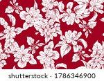 seamless apple blooming...   Shutterstock .eps vector #1786346900