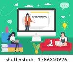 online education background...   Shutterstock .eps vector #1786350926