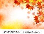 autumn leaves maple autumn...   Shutterstock .eps vector #1786366673