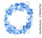 watercolor unusual floral... | Shutterstock . vector #178636766