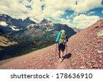 hike in glacier national park...   Shutterstock . vector #178636910