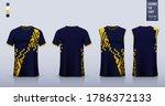 t shirt mockup  sport shirt... | Shutterstock .eps vector #1786372133