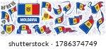 vector set of the national flag ... | Shutterstock .eps vector #1786374749