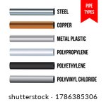 pipes type collection. vector... | Shutterstock .eps vector #1786385306