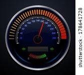 speedometer   Shutterstock .eps vector #178641728