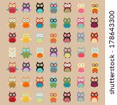 Cute Colorful Owl Pattern  ...