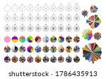 big set of segmented circles.... | Shutterstock .eps vector #1786435913