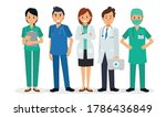 set of variety doctor cartoon...   Shutterstock .eps vector #1786436849