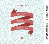 wedding card or invitation with ... | Shutterstock . vector #178645004