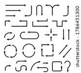 arrows. illustration isolated...   Shutterstock . vector #1786451300