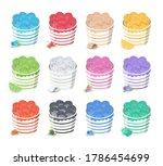 vector set of fried ice cream ... | Shutterstock .eps vector #1786454699