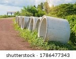 Cement Pipes Beside The...