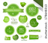 natural product green labels  ... | Shutterstock . vector #178648313