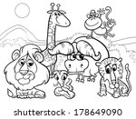 black and white cartoon vector... | Shutterstock .eps vector #178649090