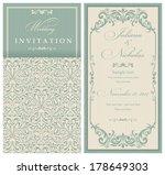 wedding invitation cards ... | Shutterstock .eps vector #178649303