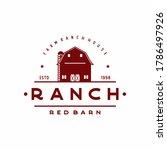 Vintage Retro Barn Farm Logo...