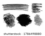 pencil strokes vector image ... | Shutterstock .eps vector #1786498880