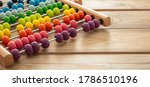 School Abacus With Colorful...