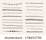 ink hand drawn line border set... | Shutterstock . vector #178652750