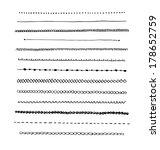 ink hand drawn line border set... | Shutterstock . vector #178652759