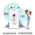 patient and phone with doctor...   Shutterstock .eps vector #1786536980