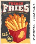 french fries antique poster... | Shutterstock .eps vector #1786540376