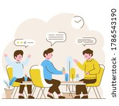 three men doing discussion..... | Shutterstock .eps vector #1786543190