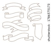 hand drawn set of ribbons....   Shutterstock .eps vector #1786575173