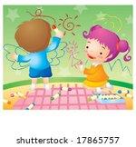 kids life | Shutterstock .eps vector #17865757
