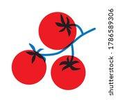 cherry tomatoes shape modern... | Shutterstock .eps vector #1786589306
