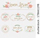 flower design elements. frames  ... | Shutterstock .eps vector #178661198