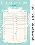 baby shower alphabet game    Shutterstock .eps vector #178662458