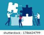 starting a business. a group of ...   Shutterstock .eps vector #1786624799