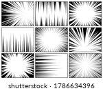 comic book radial lines... | Shutterstock .eps vector #1786634396